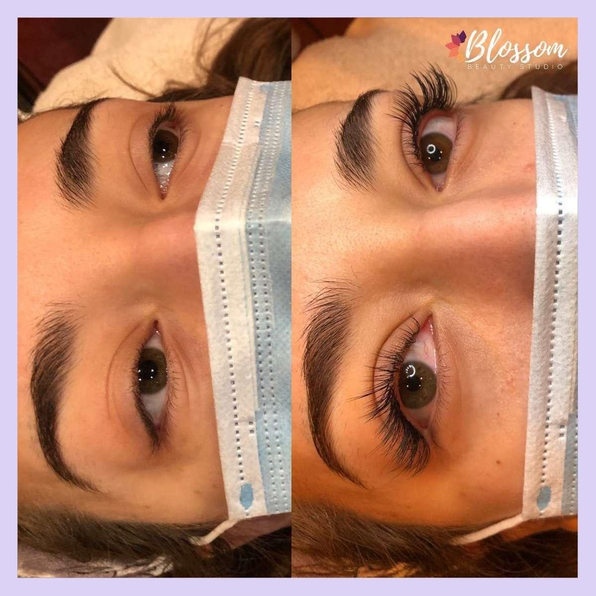 Eyelash extensions in fontana