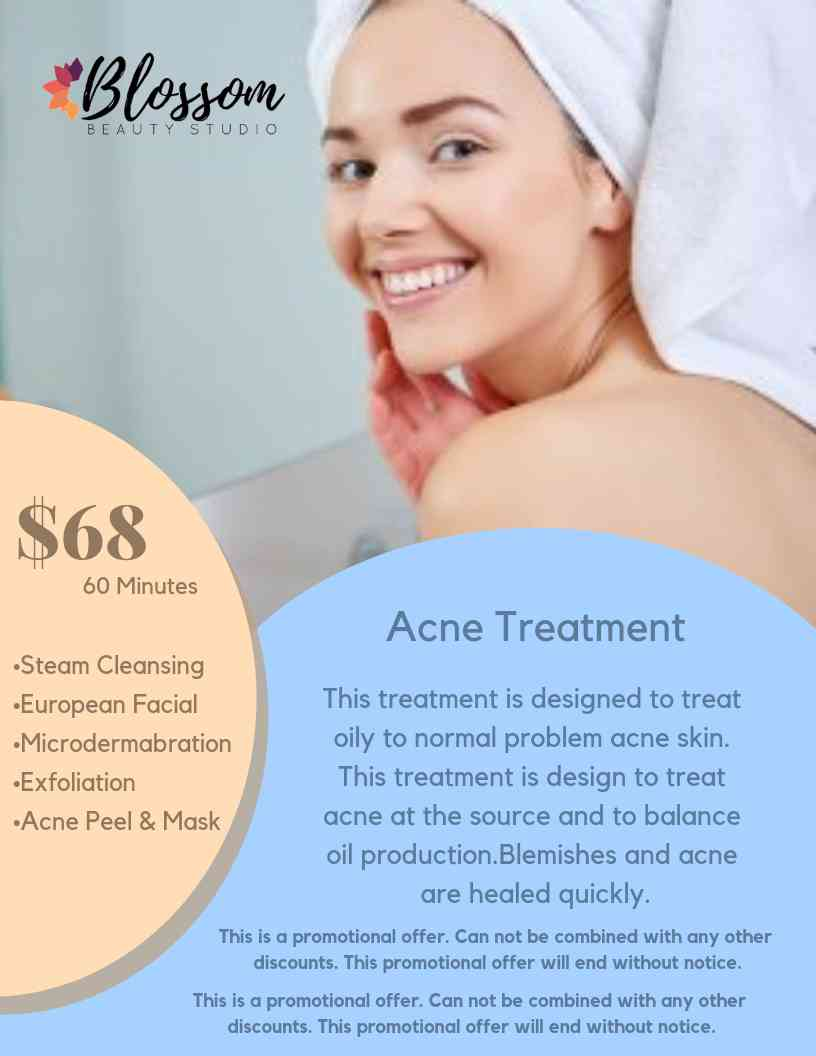 acne facial smiling girl promotion