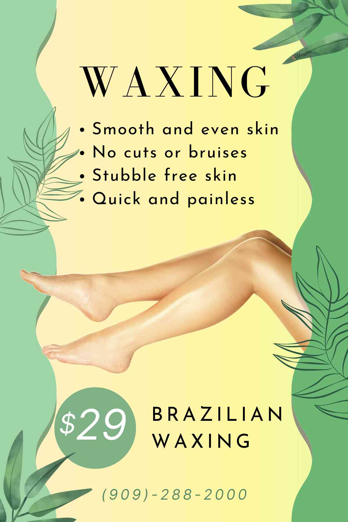 Waxing Coupon special promotions