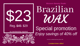 Brazilian Wax Promotion offer